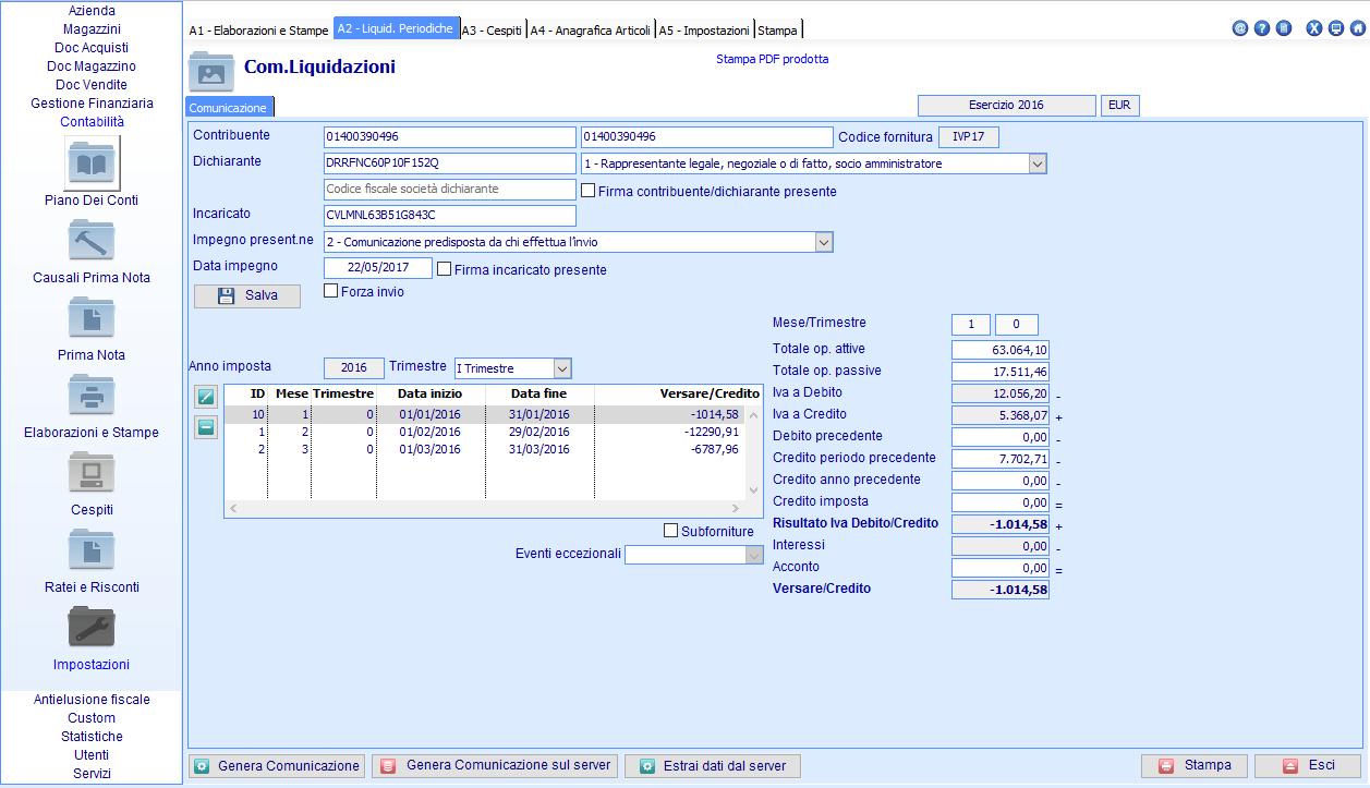 Nuovo servizio online Comunicazione Liquidazioni IVA - Creazione file XML